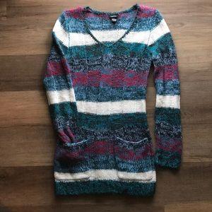 Rue 21 Long Sweater/Dress Pockets V-neck M EUC